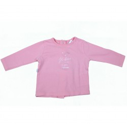T-SHIRT - ABSORBA - ROSE - 1MOIS