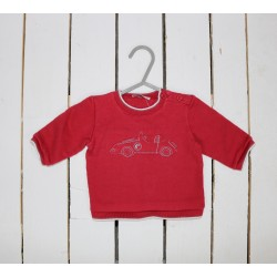 PULL - CACHAREL - ROUGE - 3MOIS