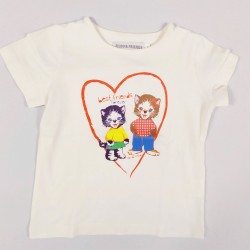 T-SHIRT - FILOU AND FRIENDS - BLANC - 3 ANS