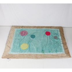 TAPIS - MOULIN ROTY - TURQUOISE - NAISSANCE